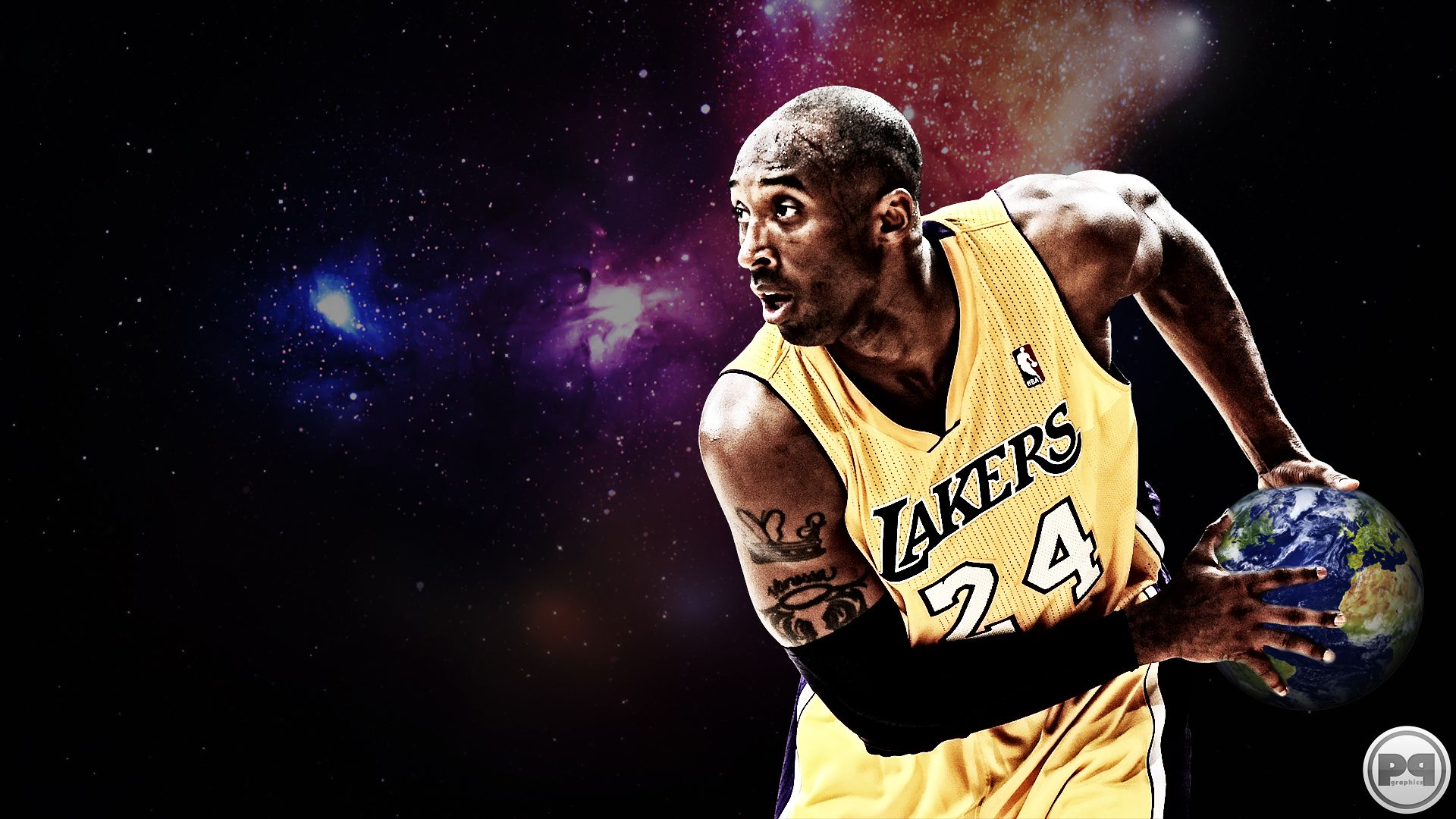 New NBA 2013 Kobe Bryant Los Angeles Lakers Basketball Wallpaper By Streetball Fam Member Pavan P Graphics 1920x1080