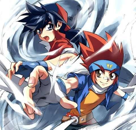 Tyson and gingka beyblade anime art manga anime anime - Tyson beyblade burst ...