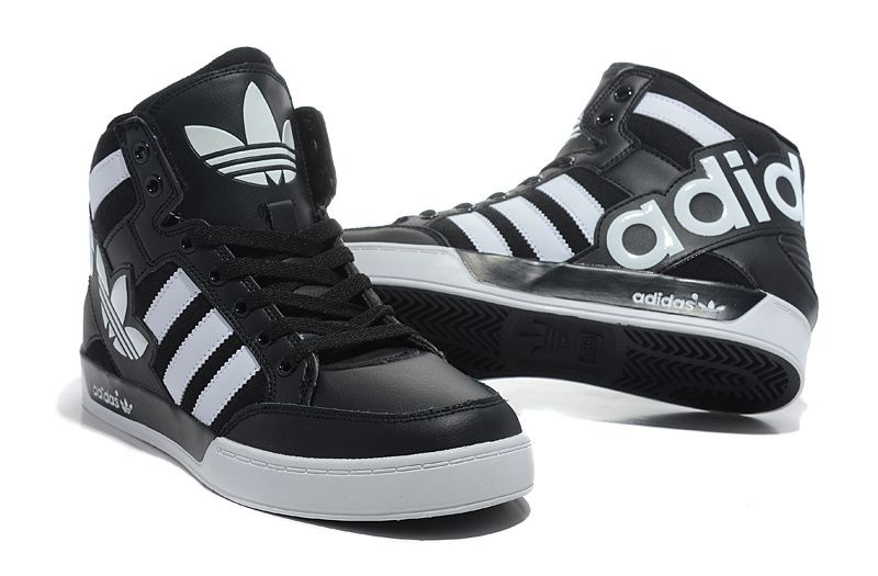 Adidas Shoes High Tops White And Black