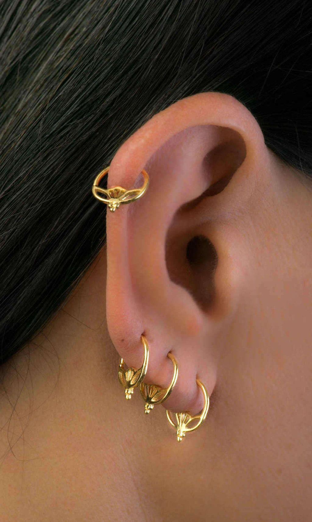 Piercing Jewelry Indian Piercing Tribal Piercing Gold Ear
