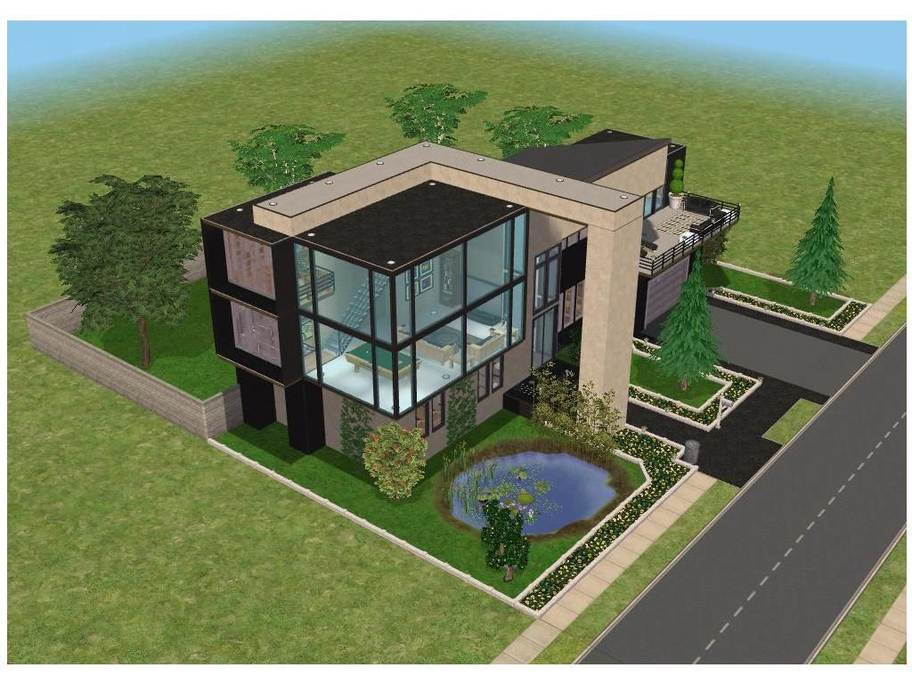 I like the green yard landscaping sims pinterest sims modern house plans and house
