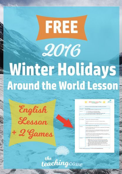 A Winter Holiday Lesson Your Students Will Love | Free english ...