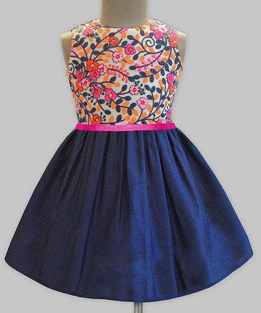 Another great find on #zulily! Kashmir Garden Embroidery Dress - Infant, Toddler & Girls #zulilyfinds