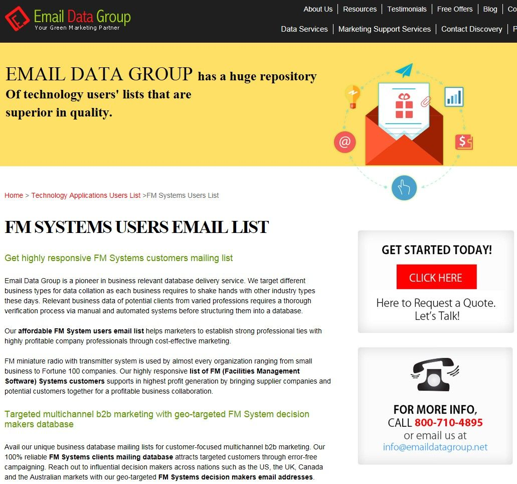 Pin by Append Email on FM Systems Users List | FM Systems