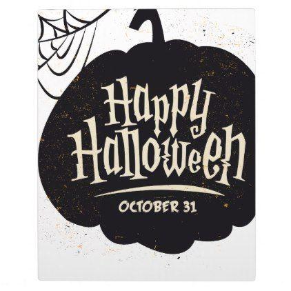 #Happy Halloween Pumpkin Plaque - #Halloween #happyhalloween #festival #party #holiday
