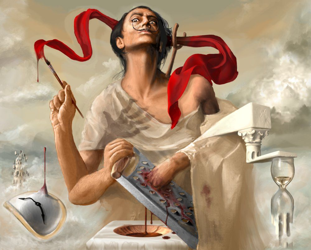 """""""Salvador Dali autosodomized by his own Inspiration"""""""