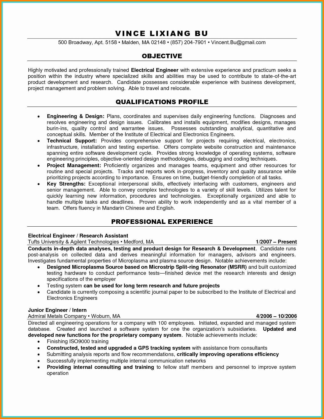 40 electrical engineer resume sample in 2020 engineering