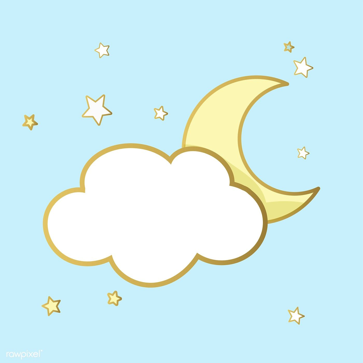 Cloud And Moon Icon Vector Free Image By Rawpixel Com Moon Icon Vector Free Vector Icons Free