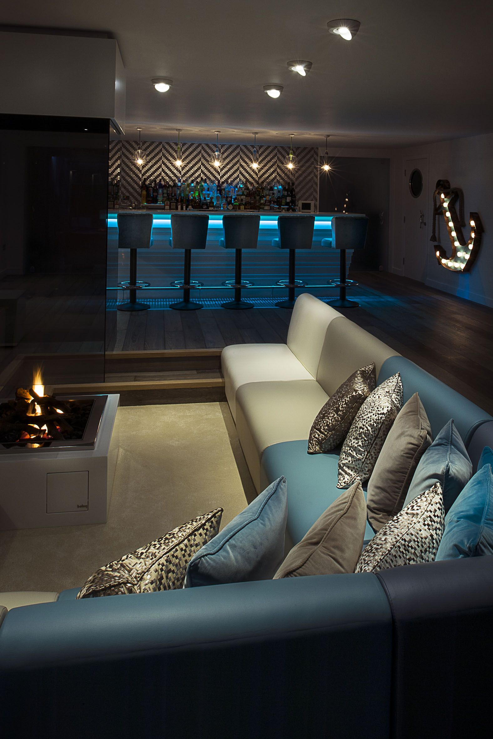 Cinema And Bar For A Residential Project By Absolute Interiors Luxury Modern Homes Modern House Home