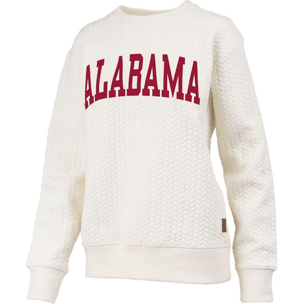 Bama Alabama Banner Elk Cable Knit Crew Sweatshirt Alumni Hall Sweatshirts Crew Sweatshirts Alabama Sweatshirt [ 1000 x 1000 Pixel ]