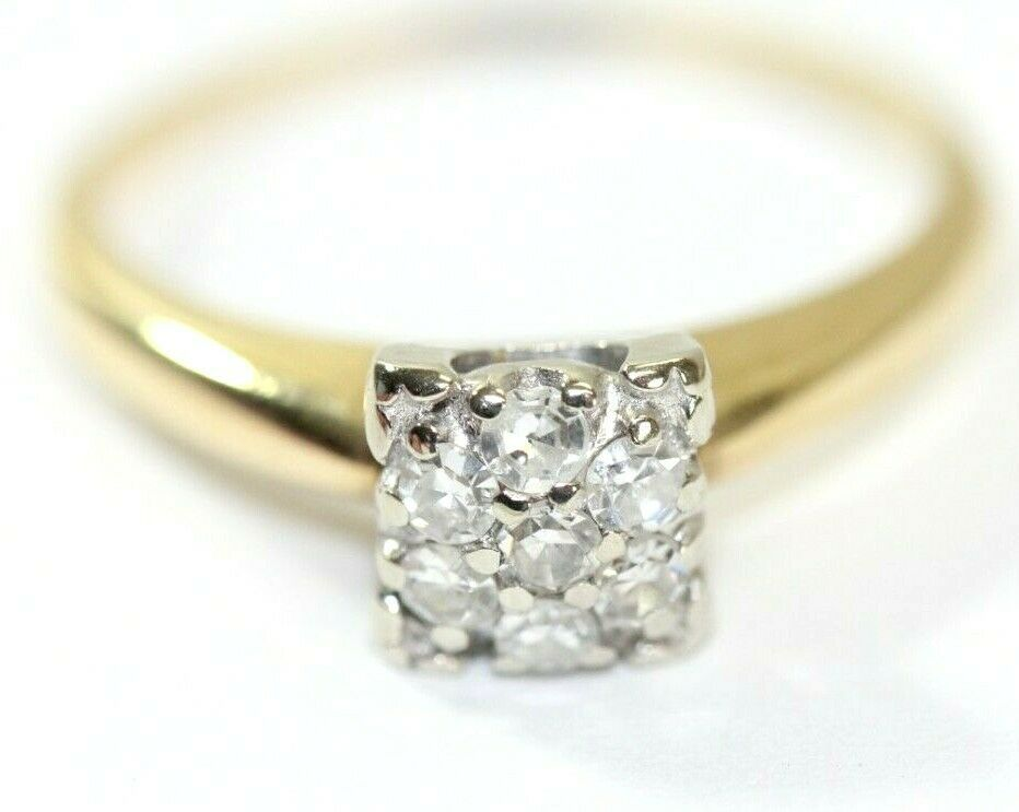 Vintage Tru Fit 14k Yellow Gold 35 Ct Diamond Womens Ring Size 7 2 3 Grams Trufit Vintage In 2020 Women Rings Rings Ring Size