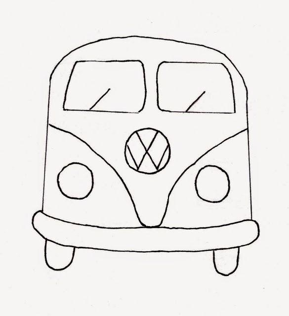 camper van pattern combi van vw bus template printables
