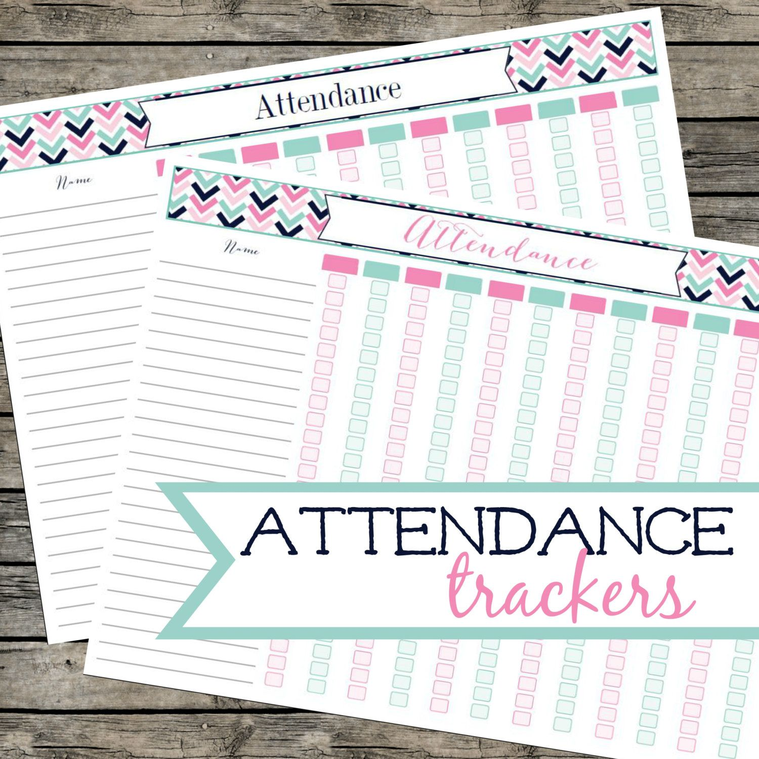 attendance log student attendance tracker printable pdf instant