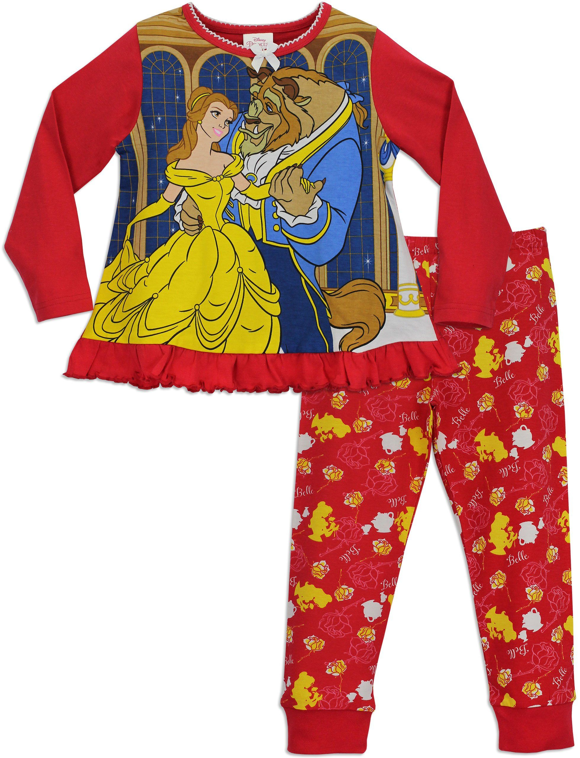 b28edfca886c Disney Princess Girls Beauty and the Beast Pyjamas Ages 18 Months to ...