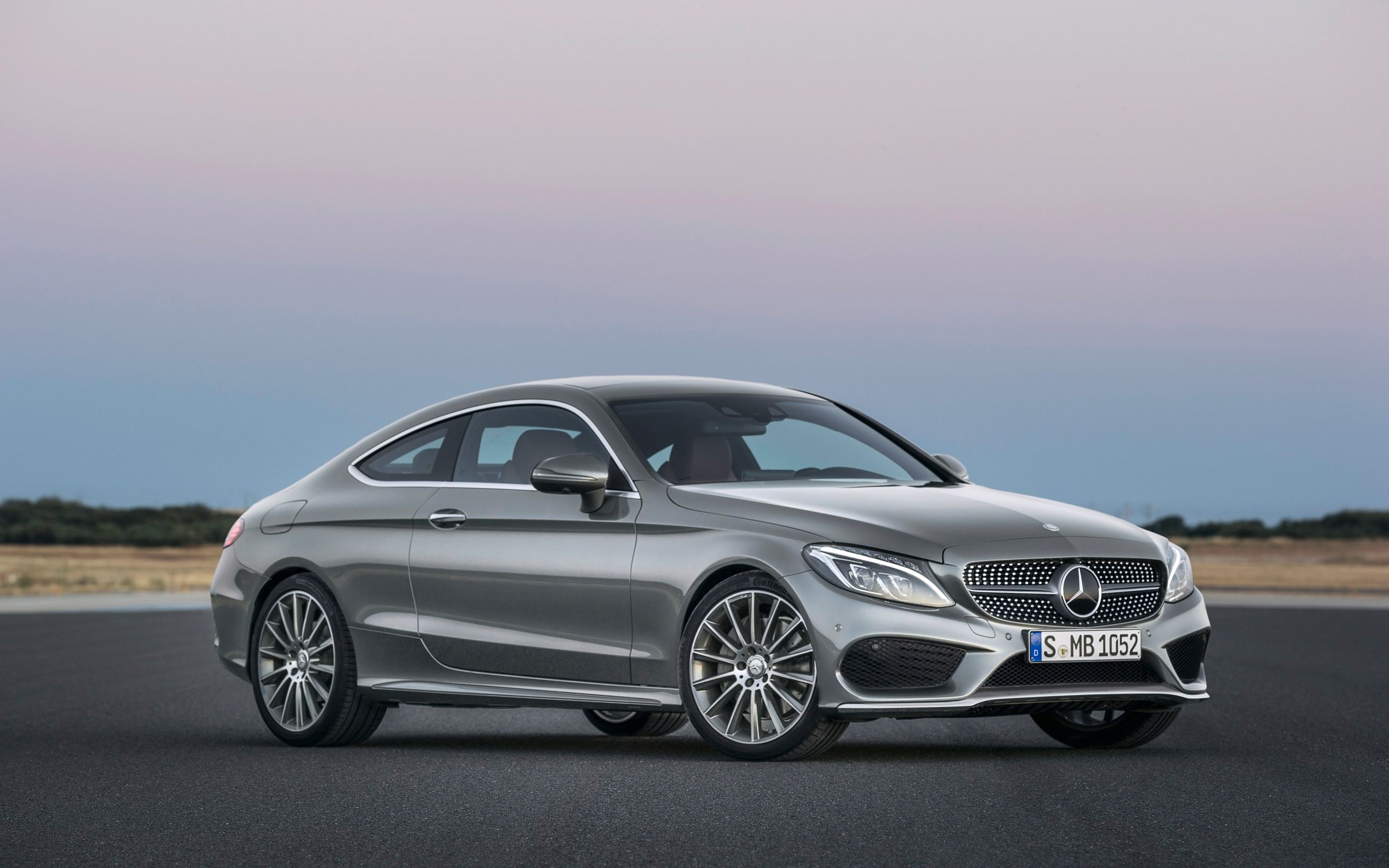 2016 Mercedes Benz C Class Coupe Selenit Grey Mercedes Coupe
