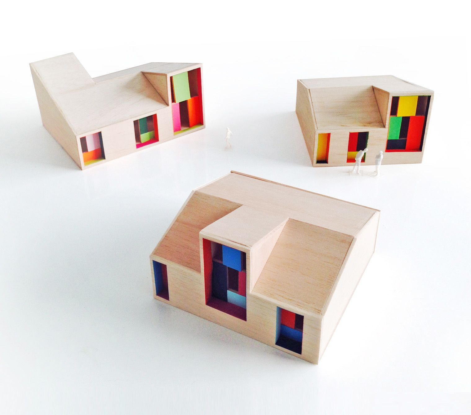 Parametric Social Houses for West Africa. 1:100 Prototypes.  #2014 #SUBARQUITECTURA #Architecture #model #Africa #lowcost #lowpoly #concrete #color #colorful #african