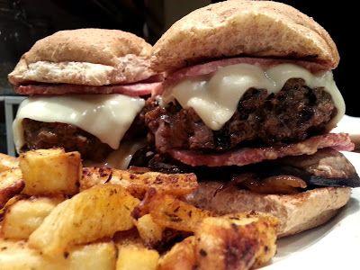 Slimming World Delights: Cajun Bacon and Mushroom Cheeseburger