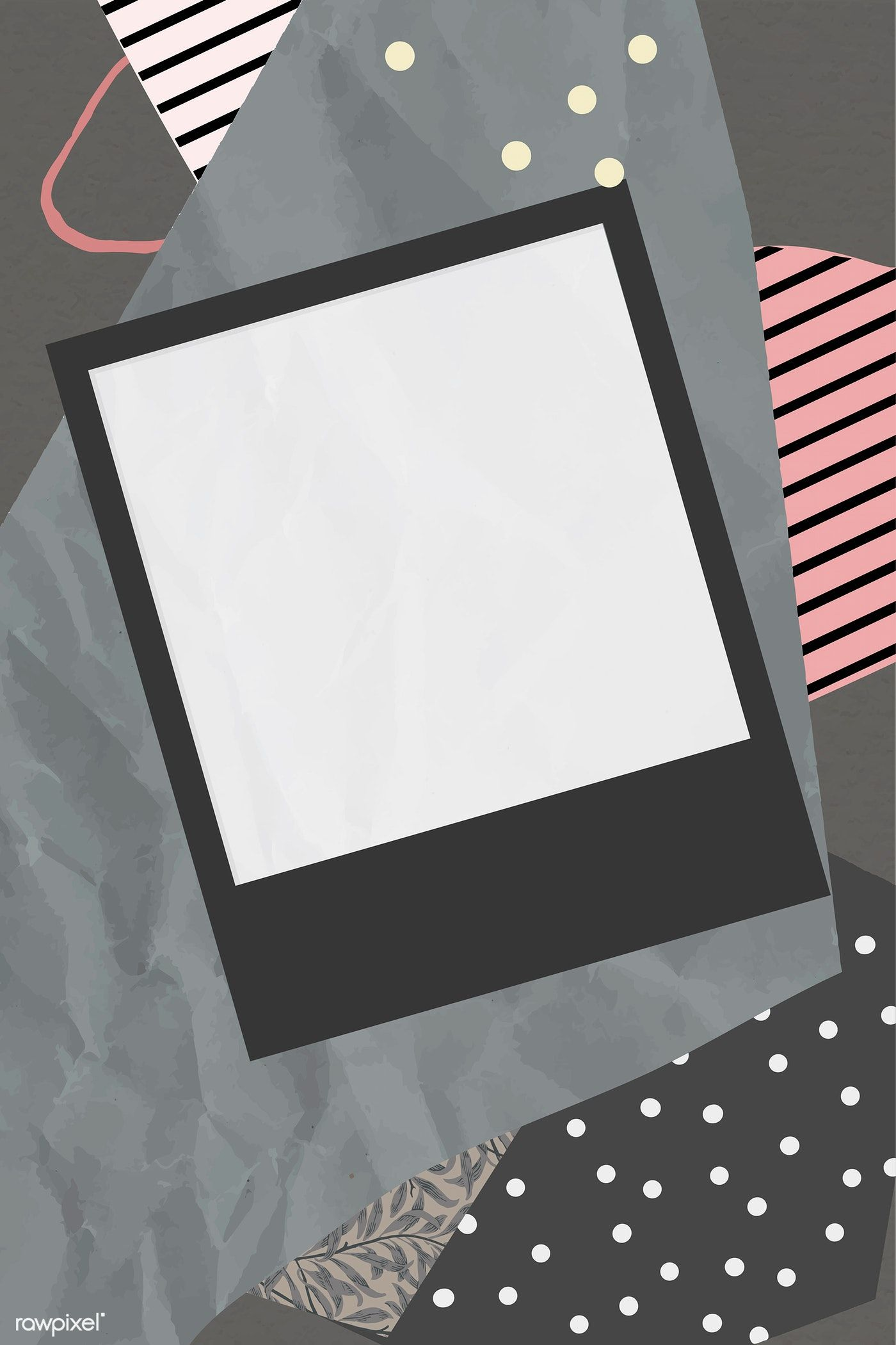 Download premium vector of Blank photo frame on scrapped