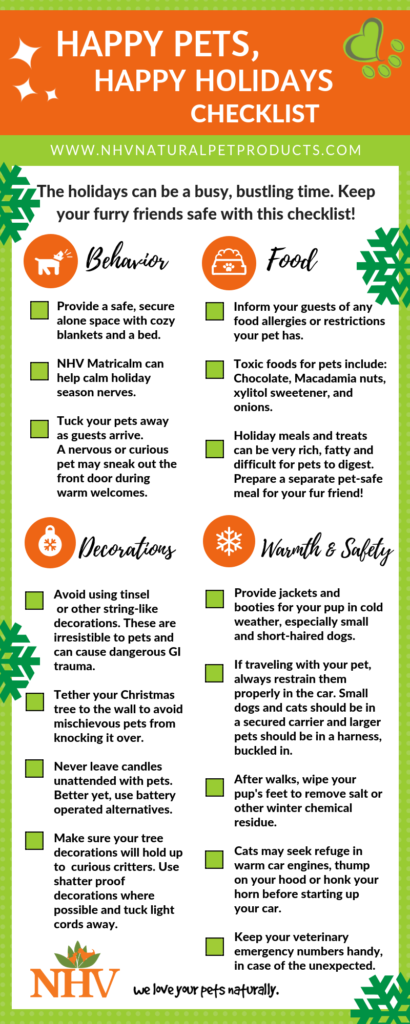 Vet Tech Rounds Nhv S Happy Pets Happy Holidays Checklist Happy Animals Holiday Checklist Natural Pet