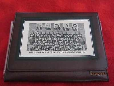 ......1961 WESTERN DIVISION CHAMPIONS NFL WALLET/ SHADOW BOX GREEN BAY PACKERS