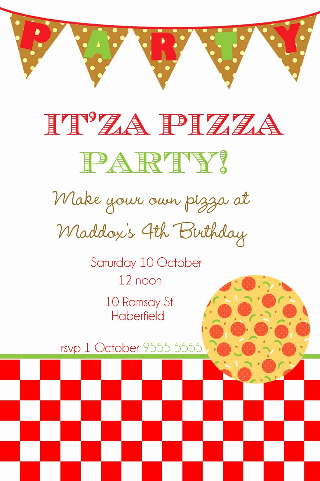 Pizza Party Invitation Template Free Best Of Blank Pizza Party Invitat Party Invite Template Printable Birthday Invitations Free Printable Birthday Invitations
