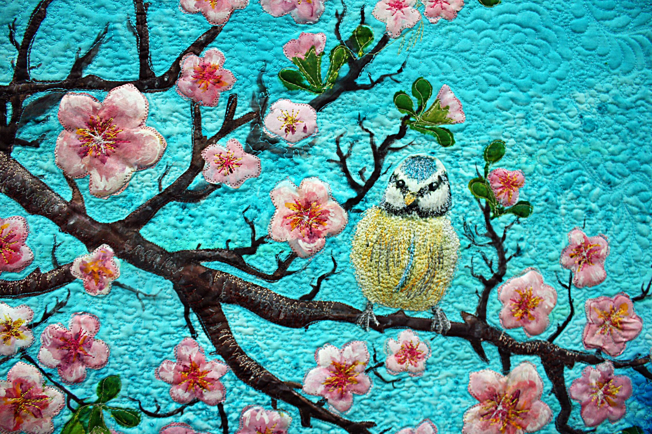 beautiful textile art...   Sublime Stitchery   Pinterest   Asian ... : quilts with birds - Adamdwight.com