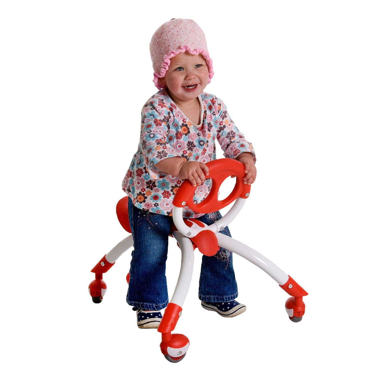 Red Toddler Walker for Ages 9 Months to 3 Years Old Pewi Walking Ride On Toy