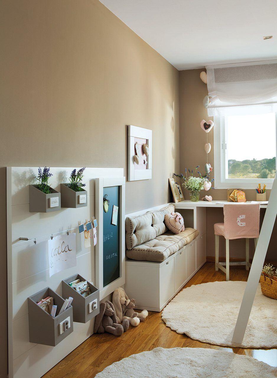 Un cuarto lleno de detalles para dos hermanas habitacion - Habitacion juvenil nino ...