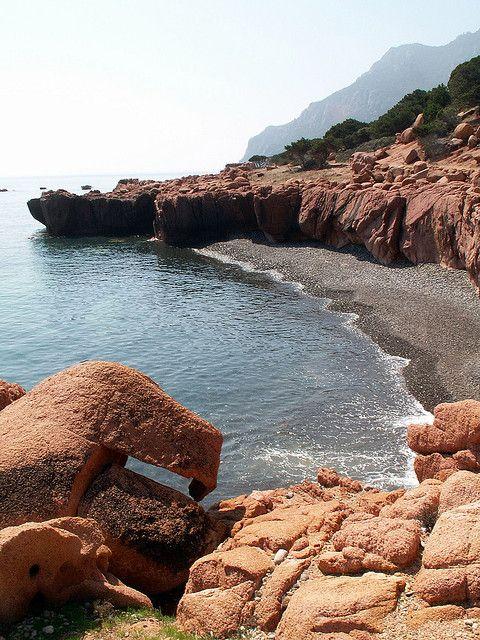 Hidden beach in Gairo marina #Ogliastra #Sardinia #Italy