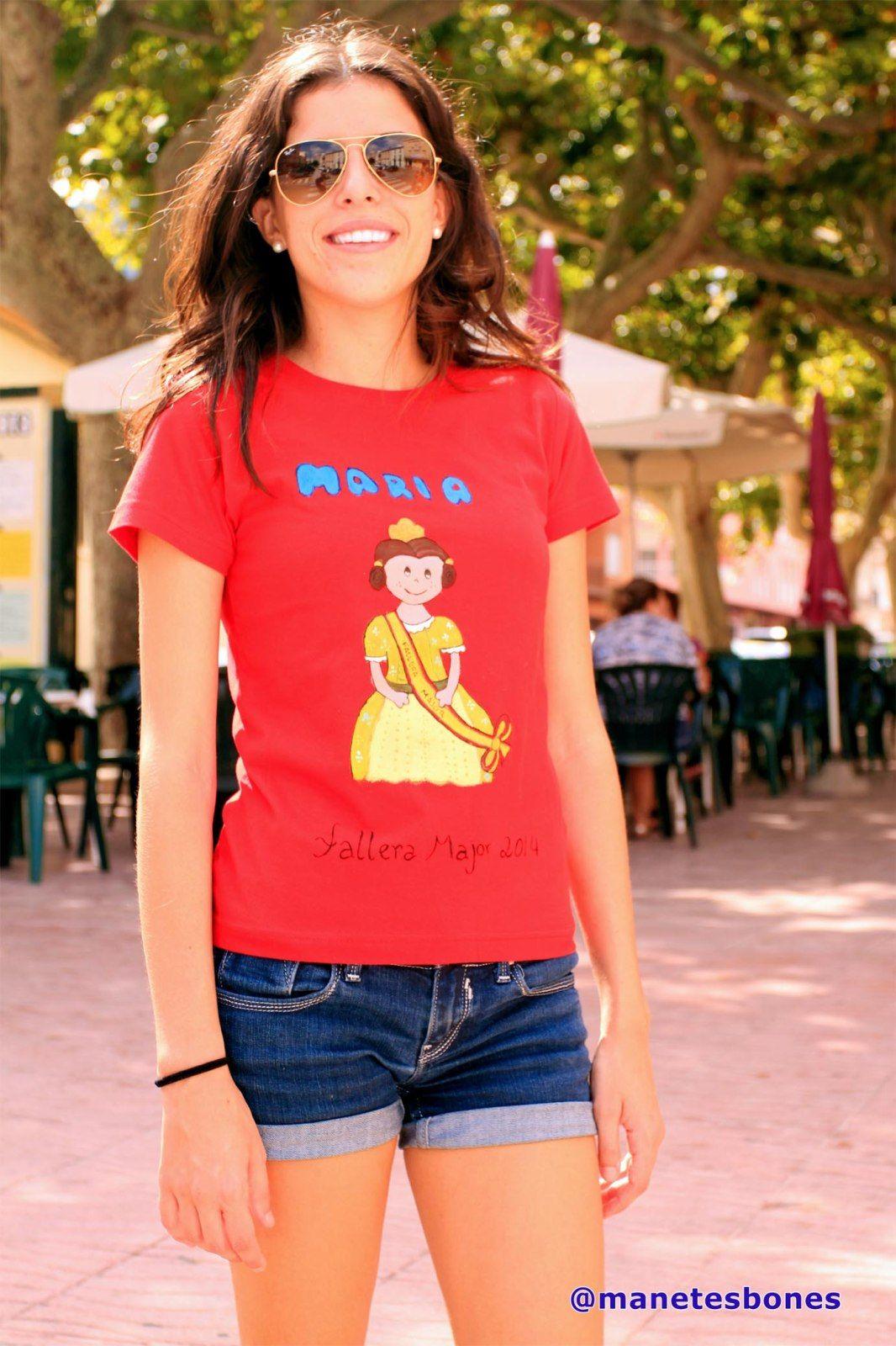 camisetas  pintadas con pintura para tela para celebrar mig any de falles