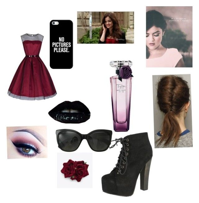 """""""Aria Montgomery"""" by katerigurl101 ❤ liked on Polyvore featuring Breckelle's, Lancôme, Casetify and Chanel"""