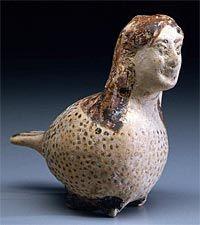 Vase en forme de Sirène Période corinthienne, vers 575 avant JC  Boston, Museum of Fine Arts