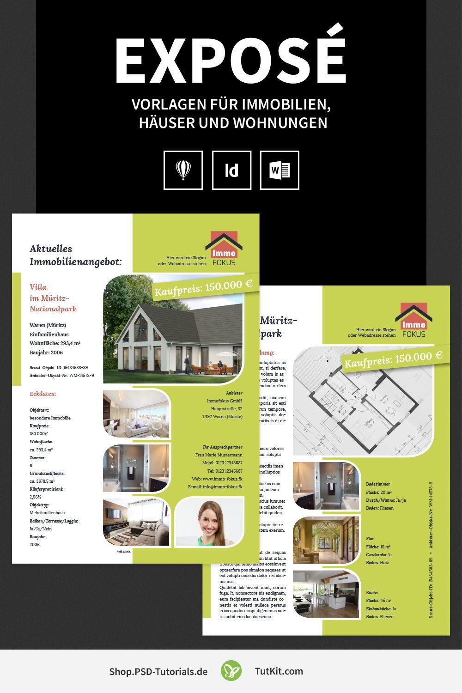 Exposé Vorlagen Für Immobilien Häuser Und Wohnungen