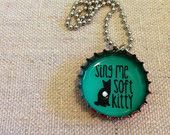 Sing Me Soft Kitty Big Bang Theory For Charity Bottle Cap Upcycle Necklace