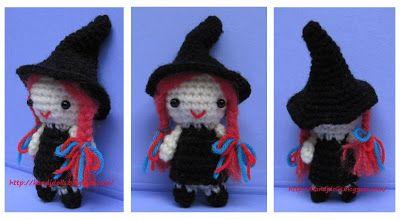Halloween Amigurumi Crochet Pattern : Kleine hexe kostenlose amigurumi häkelanleitung ~ amigurumi