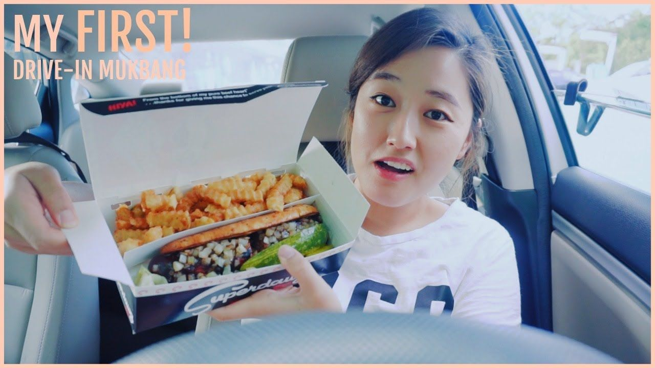 My First Drive In Mukbang With Superdawg Superburger Super Fries