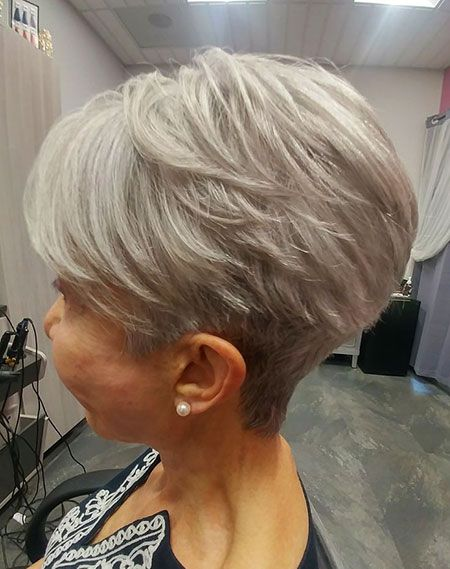 Pixie Silver Ash Blonde Older Women Hairstyles Thick Hair Styles Short Hair Styles