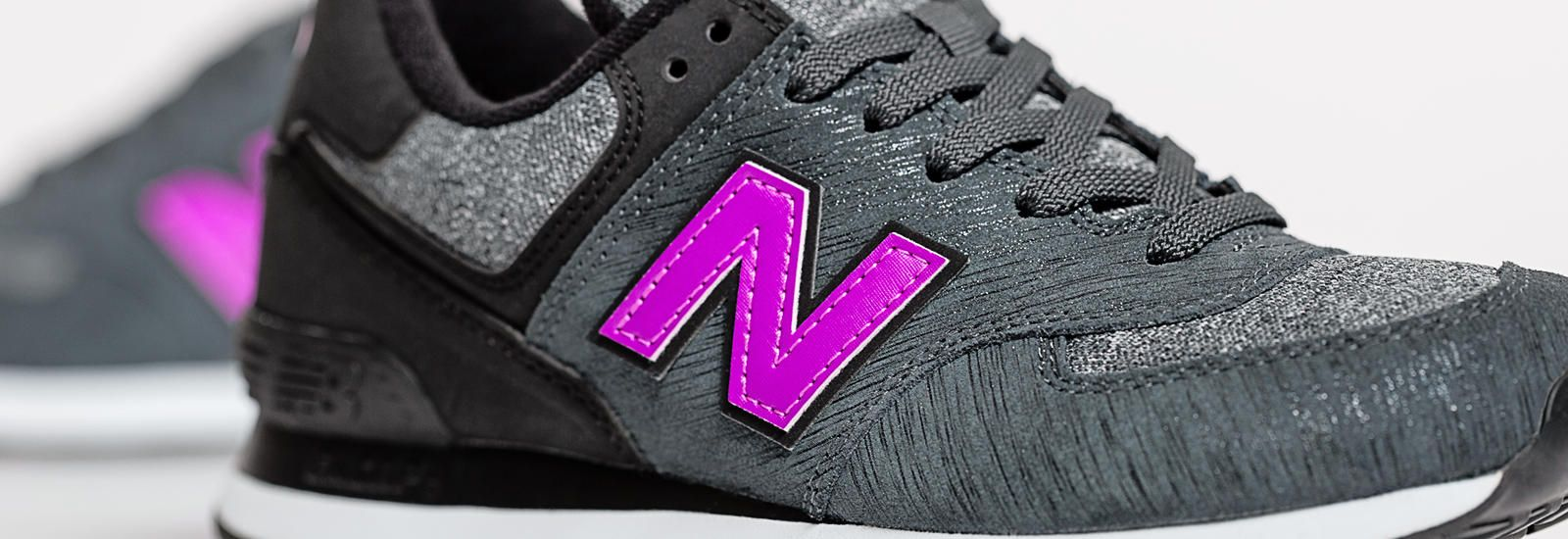 new balance 574 purple black