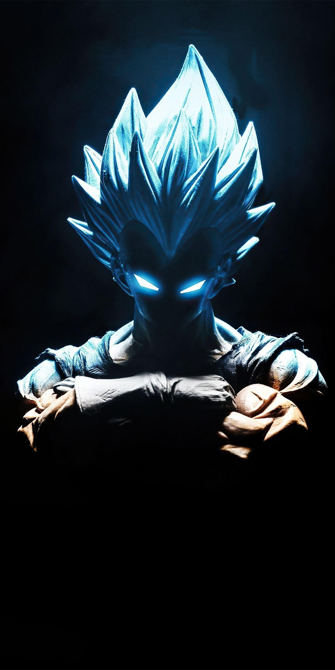 Vegeta, blue power, artwork, 1080x2160 wallpaper