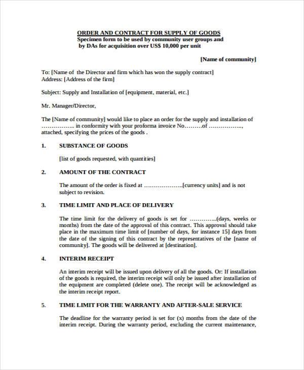 Supply Agreement Templates 13 Free Word Pdf Formats Contract Template Purchase Agreement Templates