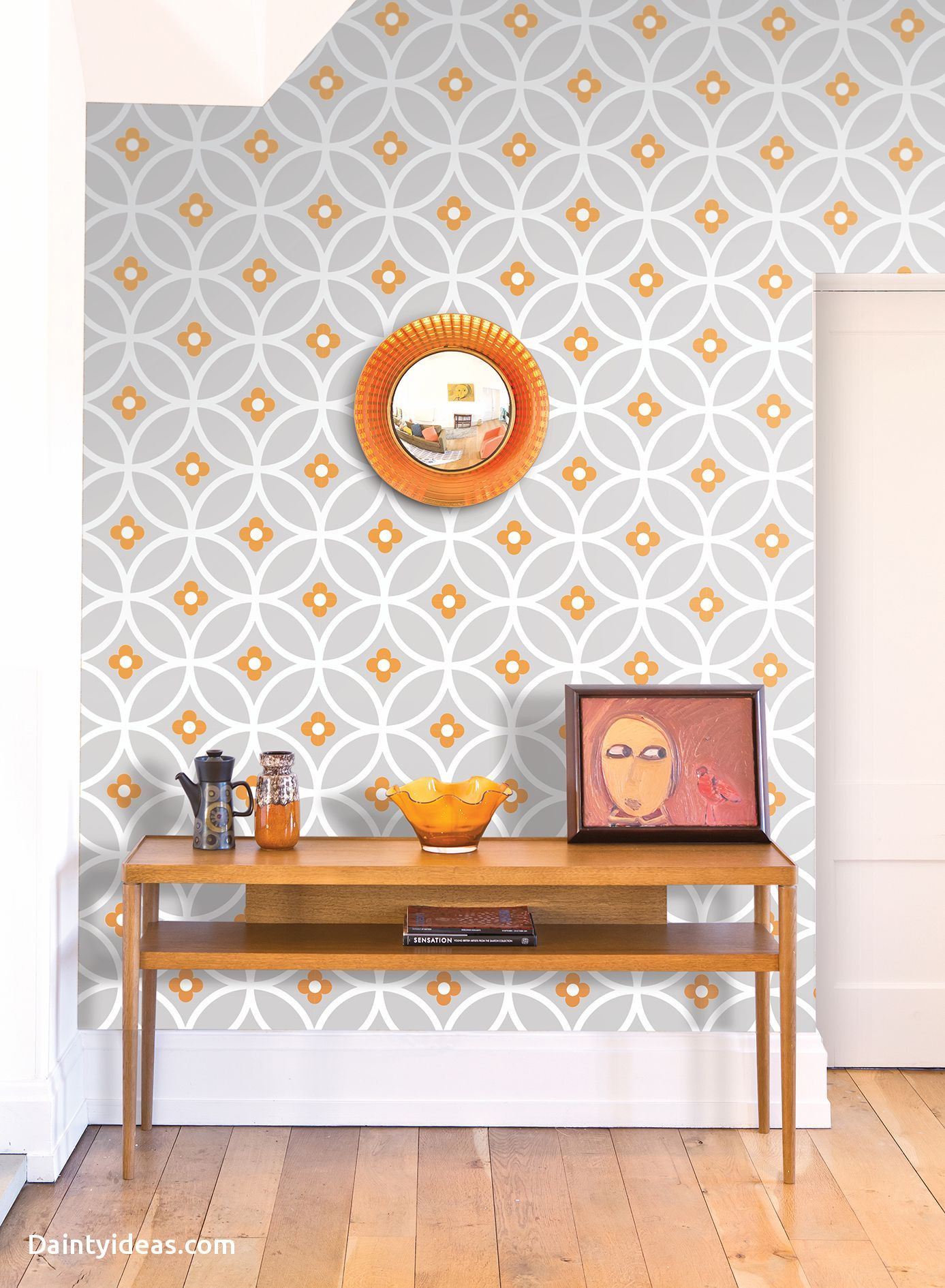Beautiful Mid Century Modern Wallpaper Retro, Desain, Rumah
