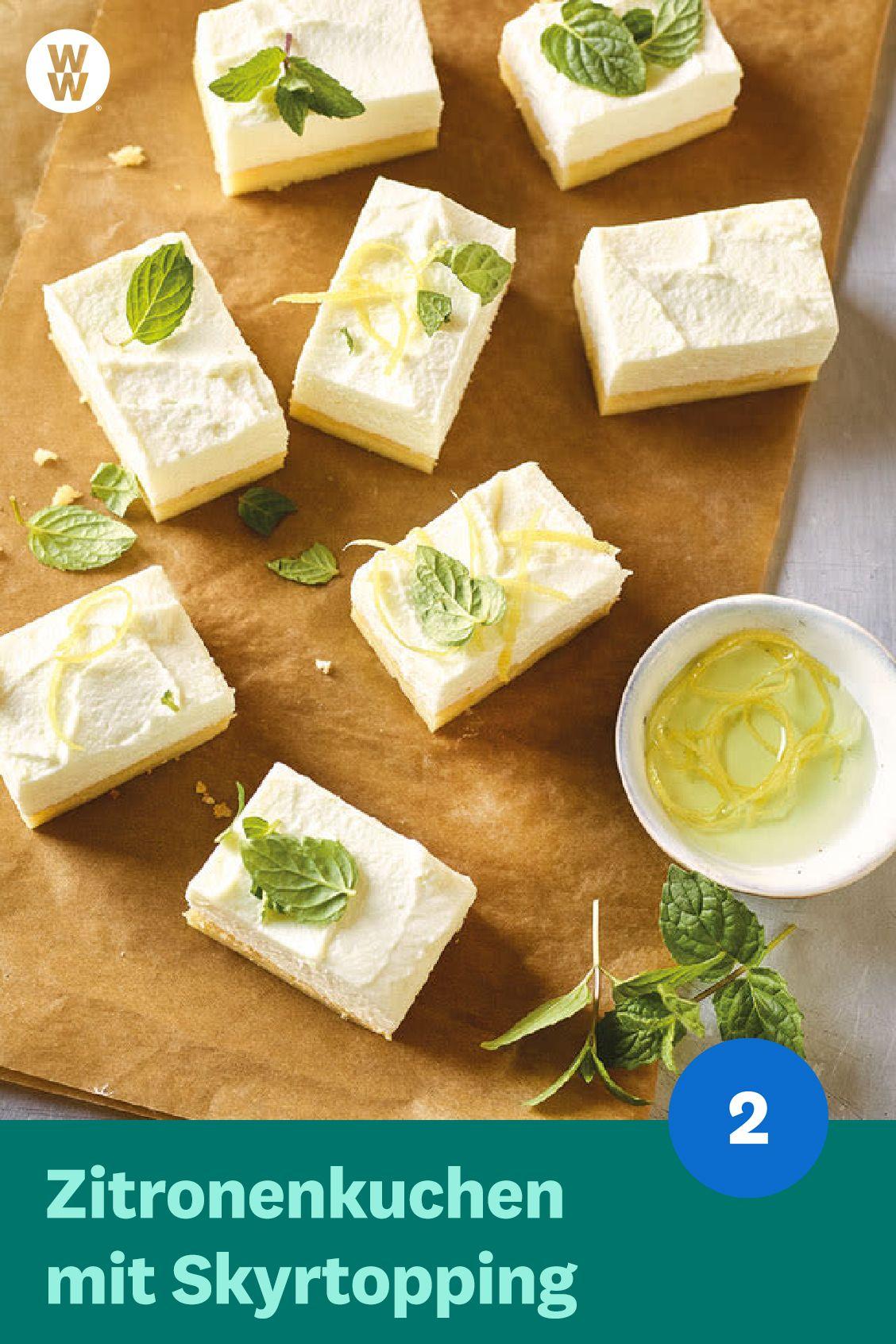 Zitronenkuchen mit Skyrtopping