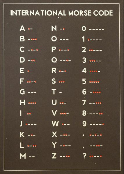 Morse Code Screenprint #DoubleMerrick €35.00 EUR