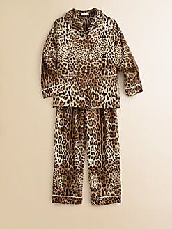 Dolce & Gabbana - Toddler's & Little Girl's Silk Leopard Pajamas ...