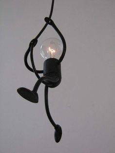 Lamp Lampje Uniek En Sfeervol Handgemaakt Design Klimlampje Solo Lampen Lampe Industriedesign Lampen