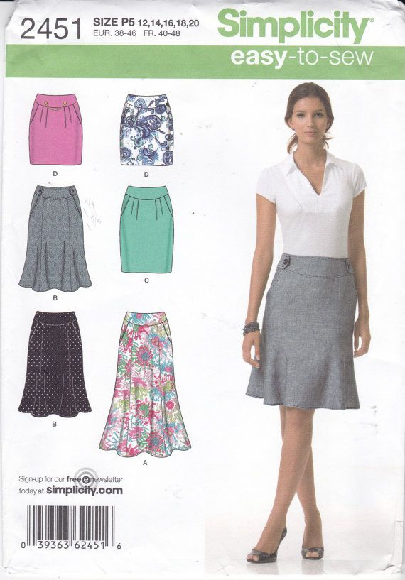 Skirt Sewing Pattern Straight Skirt Flared Skirt With Pockets Mini
