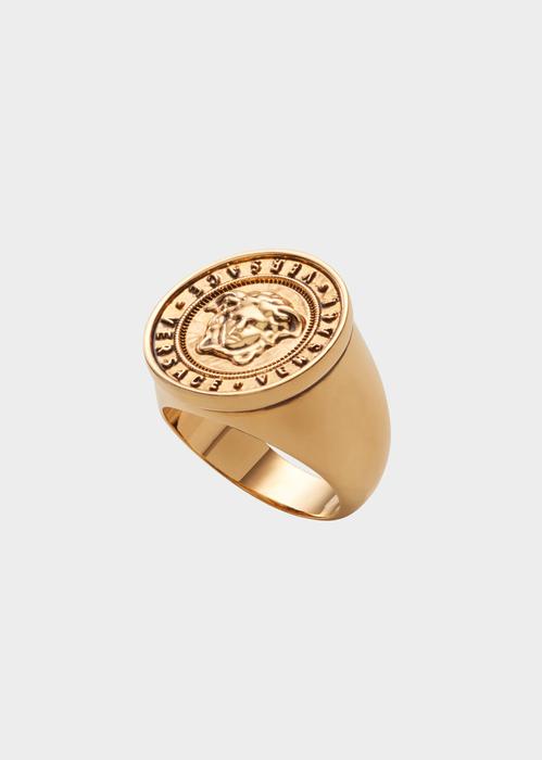 90 Dg56338 Djmt D9v 20 Versacelogomedusaring Rings Versace Online Store 0 0 Png 499 700 Gold Pendants For Men Rings Mens Pendant