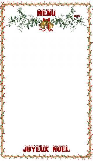 carte menu de noel Cartes Menu, Etiquettes Noël 1 | Cartes de noël à imprimer