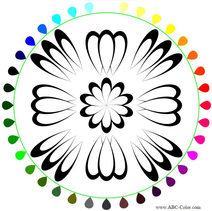 Онлайн раскраска композиция с листьев