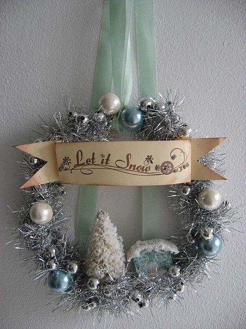 Love This For A Snowy Christmas Idea I Am Gonna Do My Snow Tree Next Year Christmas Wreaths Beautiful Christmas Decorations Christmas Decorations